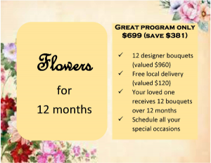 Flowers for 12 months Designer's Choice in Mount Pearl, NL | Flowers With Special Touch