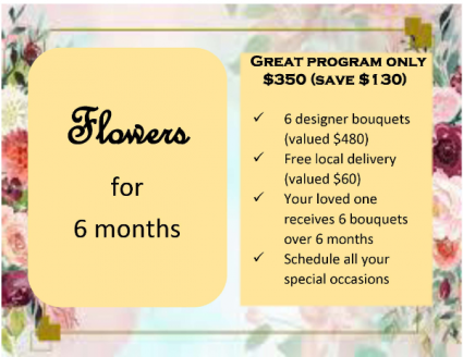 Flowers for 6 months Designer's Choice