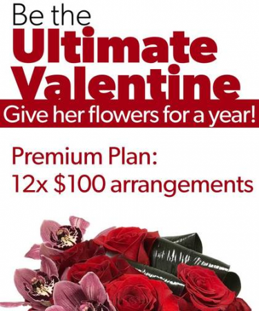 Flowers for a YEAR Ultimate Valentine's Day gift!