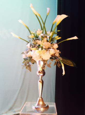Flowers for Column  Tall and showy for weddings