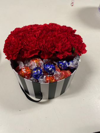 Flowers for you, Chocolate for me Flowers and Assorted Chocolate
