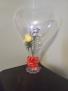 Flowers in a Heart Balloon Heart Balloon Arrangement
