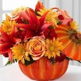 Flowers in a Pumpkim