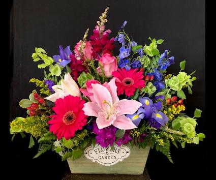 Flowers in the Window Wooden box