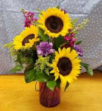 "Flowers of the Week ""Bud"" Arrangement Three Month Subscription"