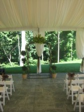 flowers set a wedding arbor  2