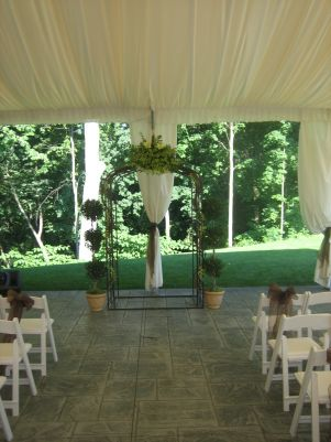 flowers set a wedding arbor  2