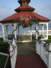 FLOWERS SET A WEDDING GAZEBOS