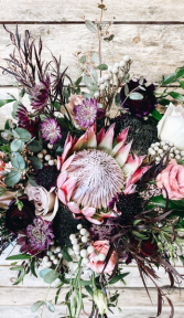 Flowing & Free Garden Wedding Bouquet