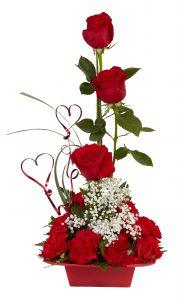 FLOWING HEARTS Valentine Arrangement