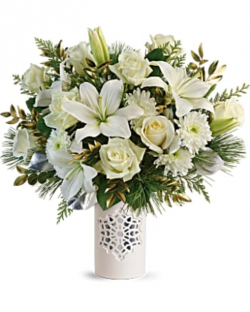 Flurry of Elegance Bouquet  Christmas