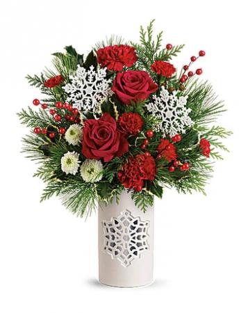 Flurry of Elegance Christmas arrangement