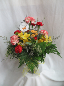 Flutterby Fresh Mixed Vased Arrangement