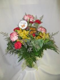 Flutterby Fresh Vased Arrangement