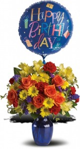 Fly Away Birthday Bouquet  in Merced, CA | TIOGA FLORIST INC.