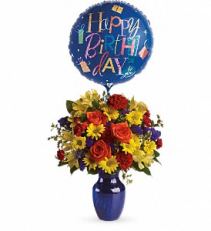 Fly Away Birthday Bouquet Vase Arrangement