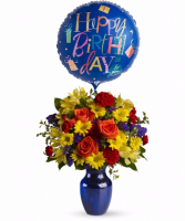 Fly away birthday  Includes Mylar baloon