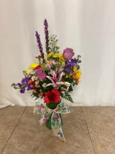 Fly Away Vase Arrangment