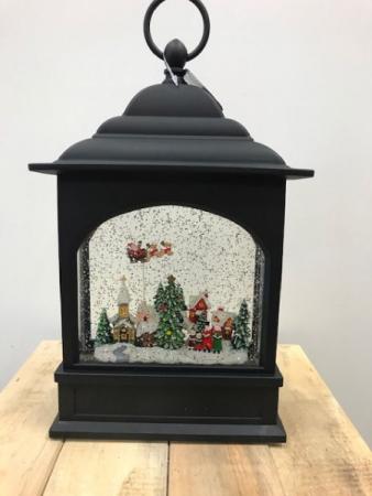 Flying Santa Light Up Snow Globe