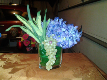 Focus on Hyacinths bridal Bouquet or table arrangement
