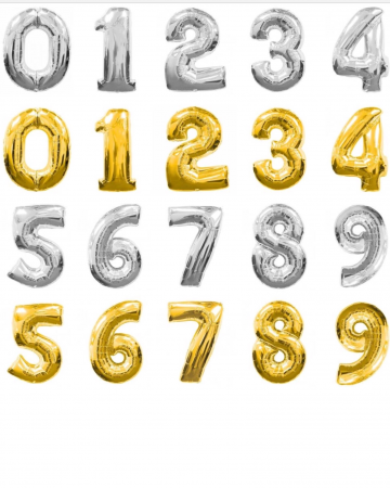 Foil Number Balloons Balloons