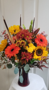 Foliage vase Fall
