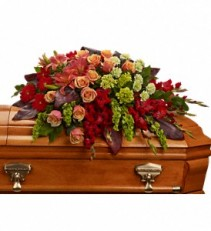 Fond Farewell Casket Spray     T271-3 Funeral Arrangement