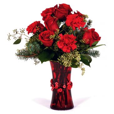 Fond Holidays Vase Arrangement