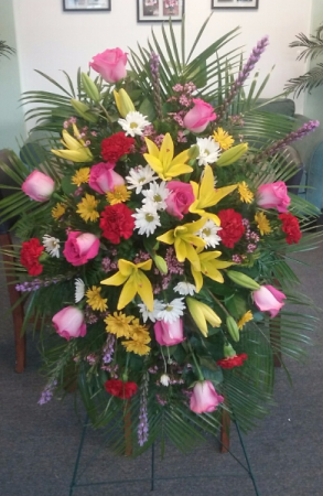 Fondest Farewell Funeral Spray in Bluffton, SC | BERKELEY FLOWERS & GIFTS