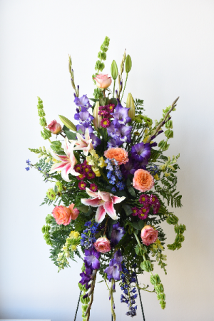 Fondest Farewell Standing Spray  in La Grande, OR | FITZGERALD FLOWERS