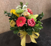 Fondly Flowers Cylinder Burlap Vase