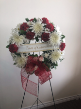 Fondly remembered Standing wreath tribute