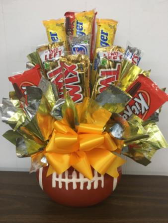 Football candy bouquet Candy bouquet
