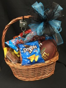 Football Snack Basket Snack basket with favorite sports teams items