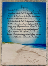 Footprints in the Sand Quilt/Throw