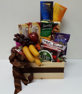 For my hero!!! Gourmet and fruit basket