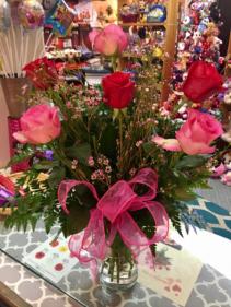 For My Love Rose Vase Arrangement