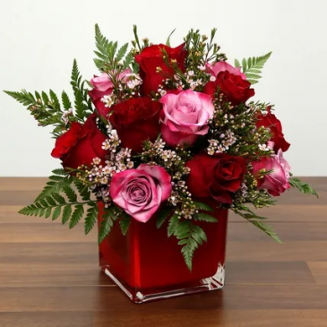 For someone special Red and Pink Rose combo