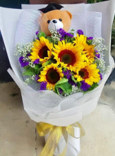 For the grad Graduation wrapped bouquet