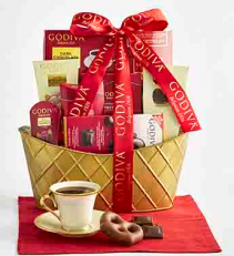 For the love of Chocolate! Gourmet Godiva Chocolate Basket