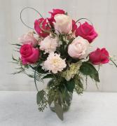 For the Love of Pink Vase Arrangement