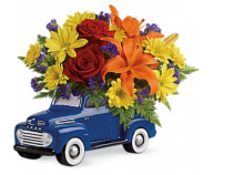 Ford For Dad Keepsake with fresh flowers