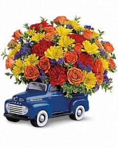 ford truck vase