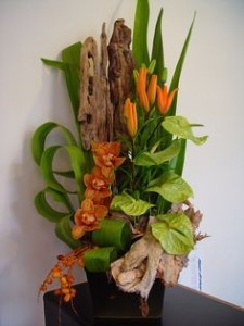 Forest Fall Tropical Flower Arrangement in Burbank, CA | MY BELLA FLOWER