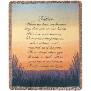 Forever a Father Woven Throw in Springfield, IL | FLOWERS BY MARY LOU