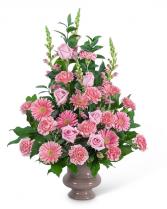 Forever Adored Urn Flower Arrangement