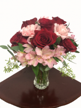 Forever and Always Bouquet Roses and Alstroemeria Bouquet
