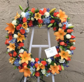 Forever Auburn Wreath Standing Wreath Spray