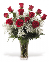 Forever Beautiful Dozen long stem premium red roses