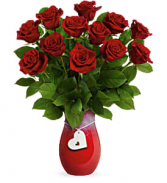 Forever Charming with 12 Roses